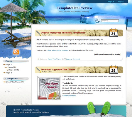 Beach Holiday WordPress Theme