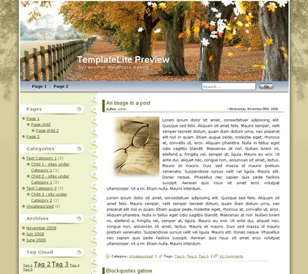 Maple Leaf WordPress Theme