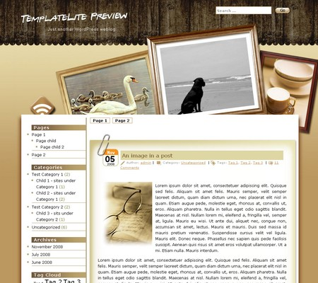 Photo Frame WordPress Theme