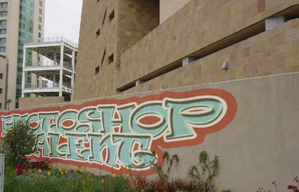 Creating and implementing graffiti photoshop tutorials.