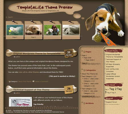 Doggy Love WordPress Theme