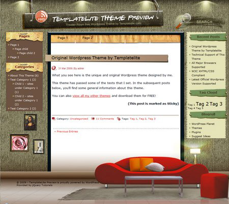 Theater Room WordPress Theme