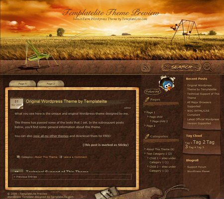 Sunset Farm WordPress Theme