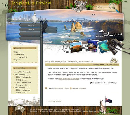 Exotic Vacation Australia WordPress Theme