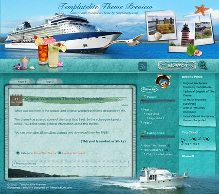 Sunset Farm Cruise WordPress Theme