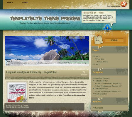 Texture Art WordPress Theme