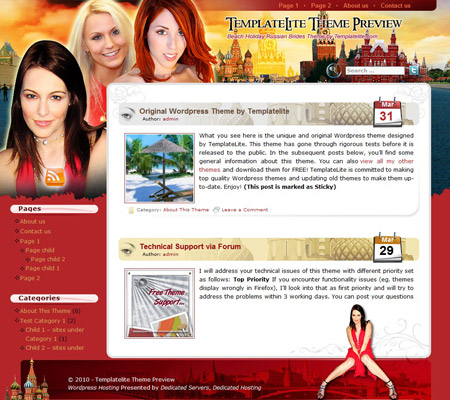 Beach Holiday Russia WordPress Theme