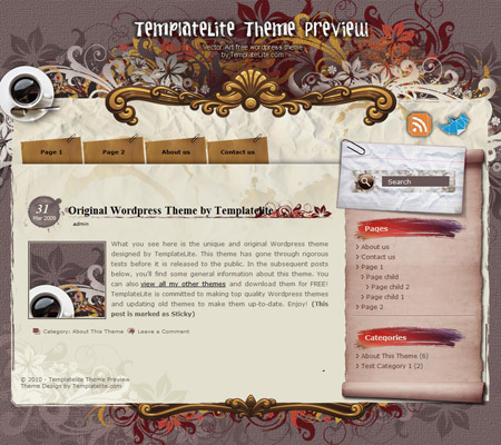 Vector Art WordPress Theme