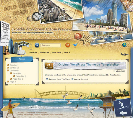 Beach Gold Coast WordPress Theme