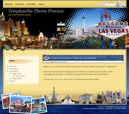 Fabulous Las Vegas WordPress Theme