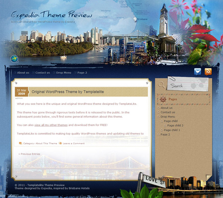 Metro Brisbane WordPress Theme